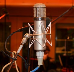 Neumann U47 tube microphone used to record the vocals