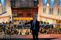 Neville Roberts with the orchestra