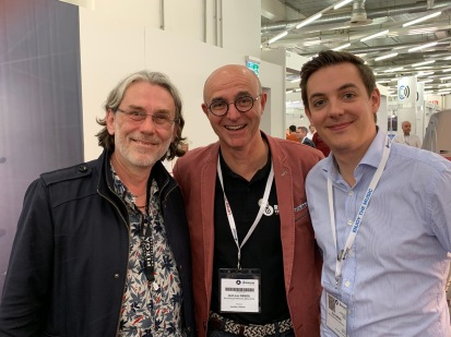 The rambler (left) with Jean-Luc Renou and Théo Gardin of Recording the Masters
