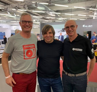 Gunter Kürten of Thorens, Roland Schneider of Ballfinger & Jean-Luc Renou of Recording the Masters