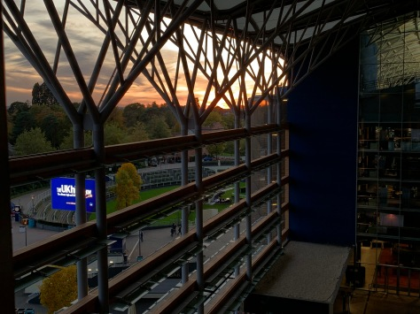 Sundown from the grandstand