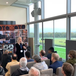 Lyn Stanley presents in the R2R Rambler room at Hi-Fi Show Live 2019