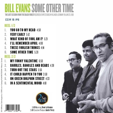 Some Other Time released by 2XHD - back cover