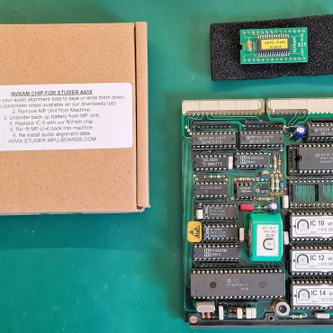 Original Studer MPU Board with the replacement NV RAM chip