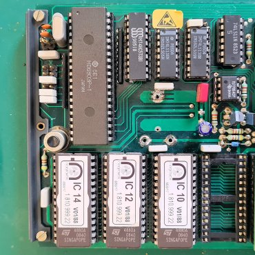 Original Studer MPU Board with the NV RAM chip fitted and battery removed