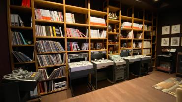 Tapes & decks in the archive room